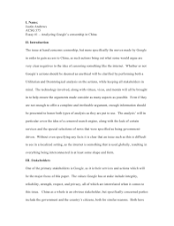 essay analzying google s censorship i justin andrewsacsg 575essay 1 analyzing google s censorship in ii