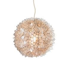 lotus flower chandelier white large by roost