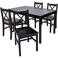 Solid wood dinning set Room Furniture Aliexpresscom Merax Piece Solid Wood Dining Set Multiple Colors Walmartcom