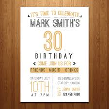 30th birthday party invitations bined with your creativity will make this looks awesome 1