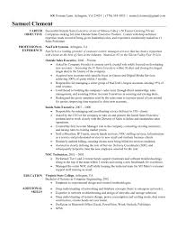Resume For Sales Manager Position Resume Work Template