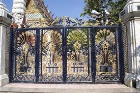 download ornate wrought iron gate of wat intharawihan in bangkok thailand asia stock image ornate wrought iron gate n1 gate