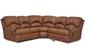 savvy milan 3 piece true sectional leather sleeper