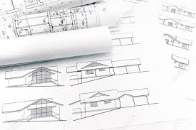 architectural drawings. Rolls Of Blueprints And Architectural Drawings New House Stock Photo - 41293386 U