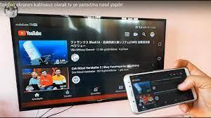 Telefon ekranını kablosuz olarak tv'ye yansıtma || Telefonu televizyona  bağlama - YouTube