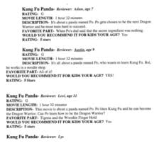 christiancoxportfolio critical review review sample for the movie kung fu panda written by fellow students