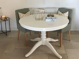 ikea ingatorp white round extendable dining table