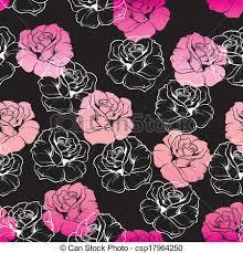 dark cute pattern wallpaper. Unique Dark Floral Vector Pink Black Wallpaper In Dark Cute Pattern U