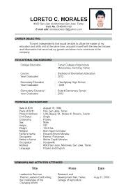 Examples Of Resumes For Teachers Gorgeous Sample Resume Of Teacher Applicant Kubreeuforicco