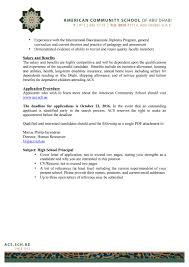 Am Comm Schl Abu Dhabi Hs Principal Announcement By International