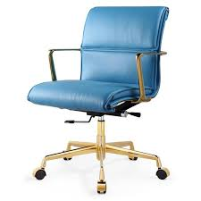 teal office chair. M347 Office Chair In Italian Leather Teal