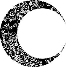 Crescent Moon Design Moon Clipart Floral Crescent Moon Design Png Transparent