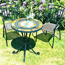 mosaic bistro table set garden and chairs small outdoor 2 metal folding uk sm small garden table