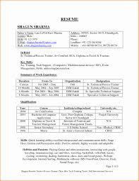 Resume Format For Software Tester Inspirational Fresher Resume