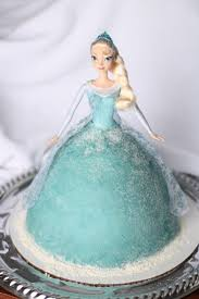 Elsa Doll cake for a Frozen themed birthday party Frozen.