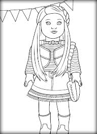 Small Picture Girl Doll Printable Coloring Pages American Girl Doll Coloring