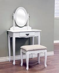 Mirror Bedroom Vanity Queen Anne White Oval Mirror Bedroom Vanity Set Table Drawer Bench