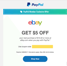 email offer ebay 5 off 15 targeted email offer doctor of credit