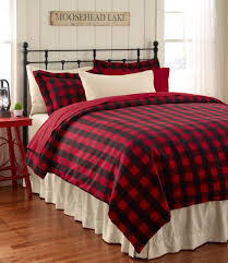 ultrasoft flannel comforter cover buffalo plaid bedding free at l l bean