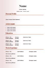 Example Of Modern Resume 21 Free Resume Templates For Word Download