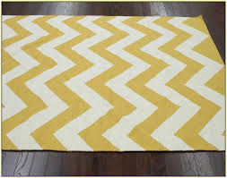catchy zig zag area rug with yellow chevron home design