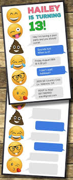 invitation t emoji birthday invitations free printable template party