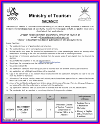 ministry of tourism vacancy gulf jobs for malayalees ministry of tourism vacancy ksa middle east muscat