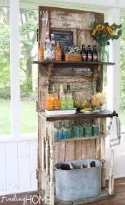 weathered door garden refreshment stand