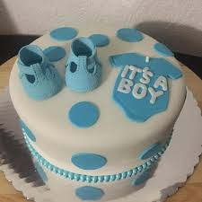 Baby Shower Cake Its A Boy Simple And Economic Baby Shower Cake