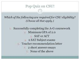 do csu need letter recommendation college knowledge class of ppt download