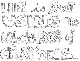 Coloring Pages Quotes All Art Printables Handouts Pinterest Page