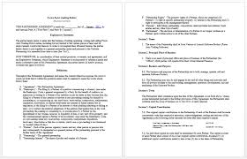 Partnership Agreement Between Companies Agreement Between Two Companies For Services 66666
