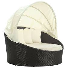 Round Outdoor Bed Furniture Outdoor Daybed With Canopy Round Rattan Daybed Pool