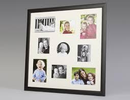 black wood multi aperture frame