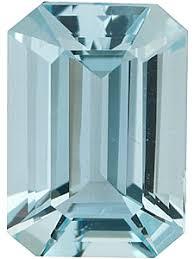 Aquamarine Clarity Chart Emerald Shape Aquamarine Stone Genuine Emerald Cut