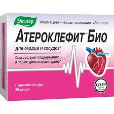 Эвалар <b>Атероклефит Био</b> для сердца и сосудов капсулы <b>30</b> шт ...