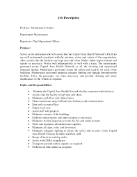 Janitor Resume Sample Template Janitorial Resume Examples Resume
