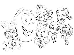 Small Picture Images Free Bubble Guppies Coloring Pages 80 About Remodel Gallery