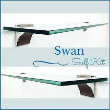 glass shelf brackets 1 of swan floating glass shelf kit 3 8 tempered glass shelf