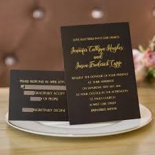 affordable winter wedding invitations online at elegant wedding Black Elegant Wedding Invitations foil gold and black wedding invitations ewfi019 black and white elegant wedding invitations
