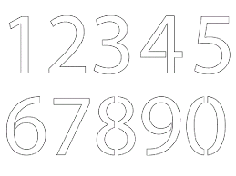 number templates 1 10 number templates 1 10 printable 0 numbers stencil color coloring