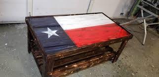american flag wood coffee table