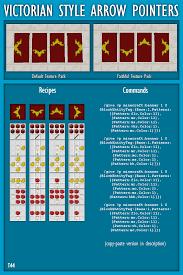 Minecraft Banner Patterns Interesting Victorian Style Arrow Pointers [Banner Design] Minecraft