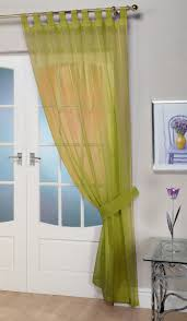 opaque lime voile curtain panel