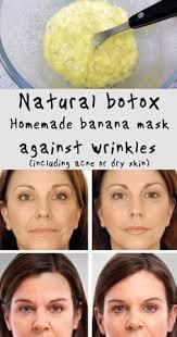 natural botox homemade banana mask against wrinkles including acne or dry skin