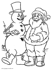 Small Picture Frosty The Snowman Coloring Pages Getcoloringpages Com Coloring