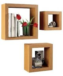 Nice Set Of 3 Chunky Cube Shelves   Oak Effect From Argos For Baby Den. For  Displaying Interesting Objects