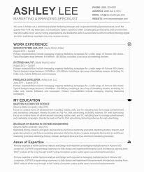 Subtle Creative And Effective The Ashley Resume Is A