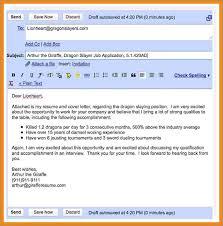 Mail Format Sending Resume Ceciliaekici Com
