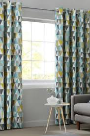 Teal Patterned Curtains Delectable These Next Curtains Would Go Great With The Geometric Pattern In The